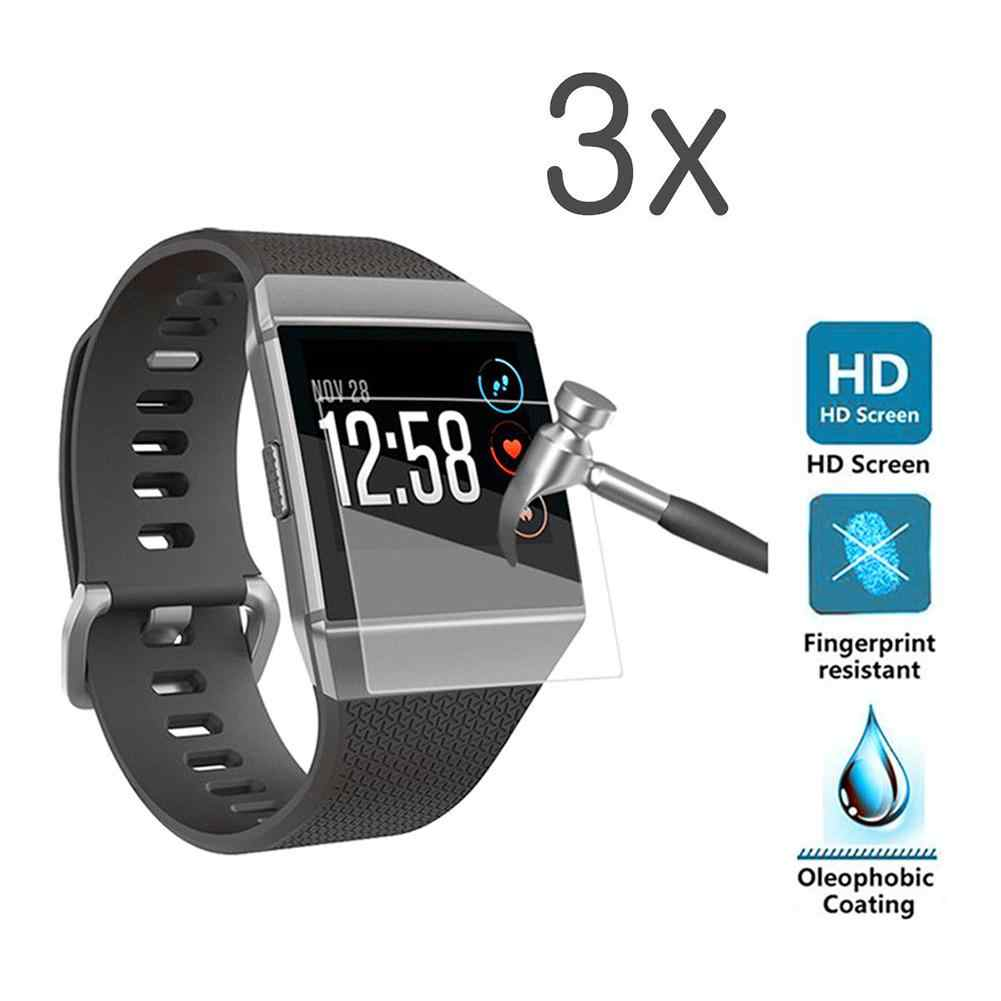 3Pcs Anti-Scratch Tempered Glass Screen Protector Film for Fitbit Ionic Watch