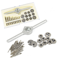 DWZ 31pcs New Mini High Speed Steel Tap And Die Set Metric Model Making Watchmaker