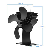 Heat Furnace Heat Powered Stove Top Fan Stove Heating Fan for Wood Log Burner Fireplace Eco Friendly Fuel Saving