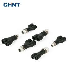 цена на CHINT Pneumatic Fittings Pneumatic Joint DPX Y Type Thread Tee Joint Fast Joint PY Tee Hose