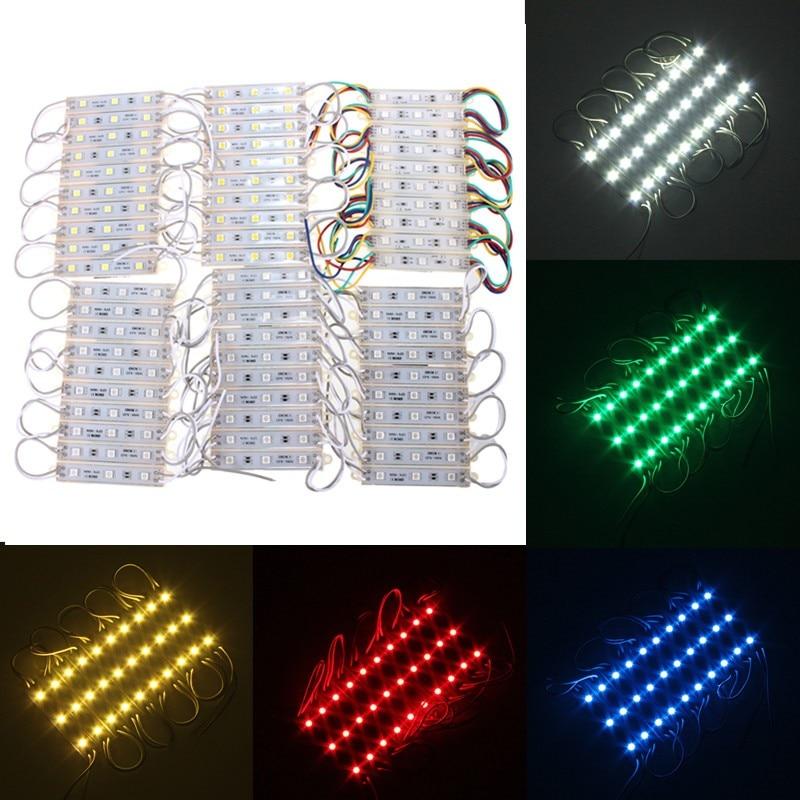 30 LED DC12V 5050 SMD LED Module Strip String Light Multi-Colors Outdoor Waterproof Light Strip IP68 10PCS/Lot