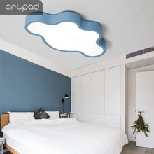 Artpad Creative Cloud Kids Bedroom Ceiling Lights With Remote Control 110V 220V Pink Blue White LED Dimmable Ceiling Light