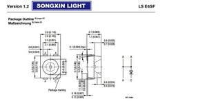 100 шт. LSE6SF-V2BA-1-1 LS E6SF-V2BA-1-1 OSRAM 3528 красный PLCC-4 общий катод супер яркий светодиодный задний фонарь SMD новый оригинальный