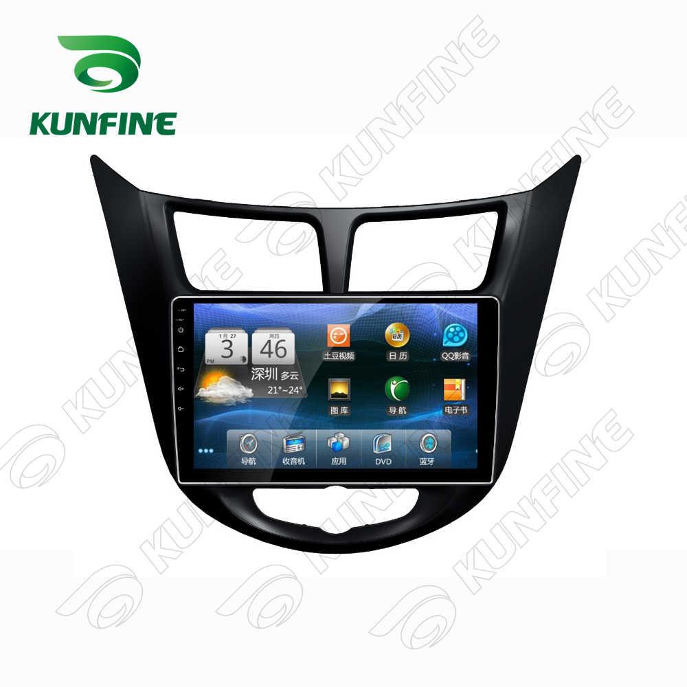 Octa çekirdek 1024*600 Android 8.1 araç DVD oynatıcı GPS navigasyon oynatıcı Deckless araba Stereo için Hyundai Verna 2010-2016 radyo ana ünite wifi