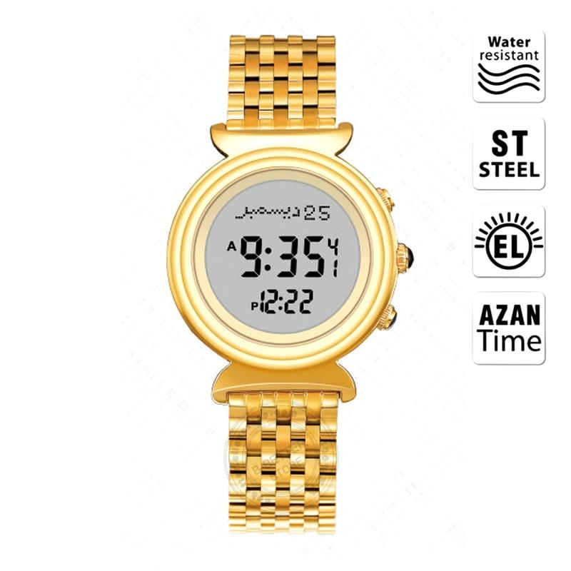 Montre musulmane Azan Al Harameen Fajr horloge de prière islamique Qibla montre-bracelet avec boussole meilleur cadeau pour dame