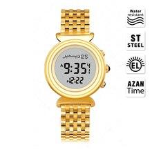 Reloj Azan musulmán Al Harameen Fajr, reloj de pulsera islámico Qibla, el mejor regalo para mujer