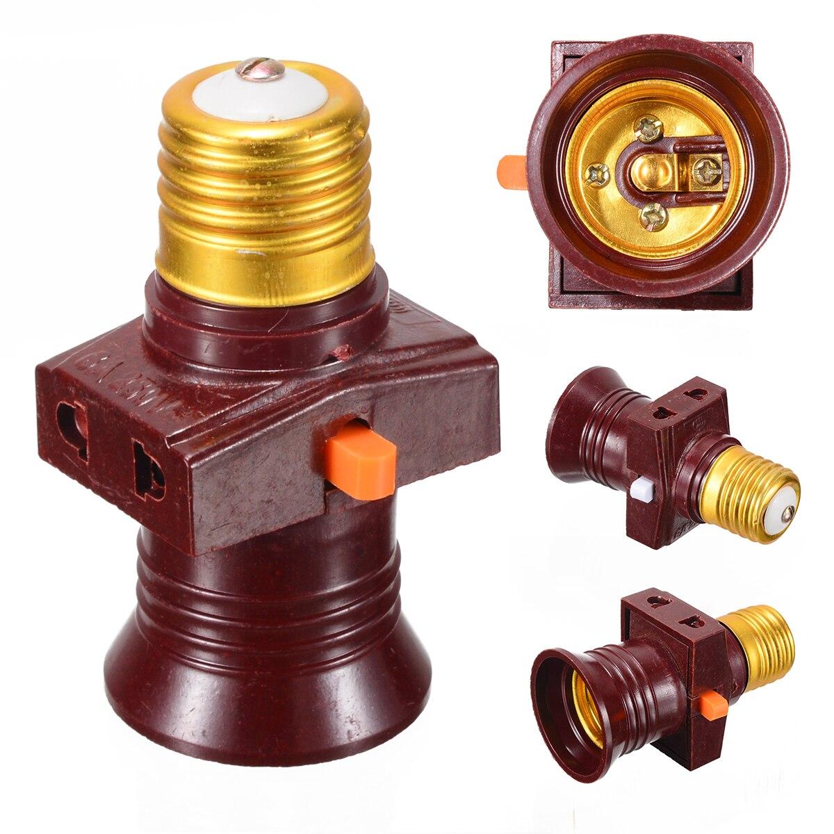 1 шт., 110-250 В, E27, винтовая лампа, цоколь, держатель лампы, цоколь с выключателем управления, аксессуары для освещения