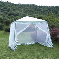 2.5*2.4m Garden Outdoor Gazebo Tent Sunshade Anti Mosquito Party Wedding Tent Insect Mesh Net Sunscreen Sunshade Marquee