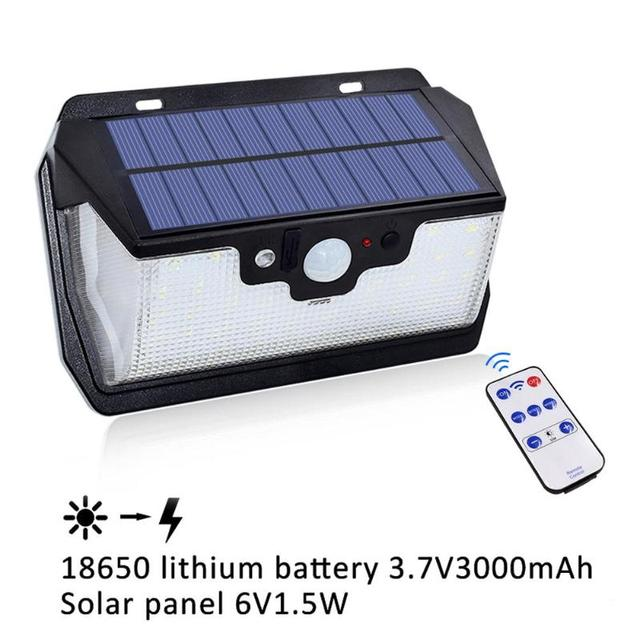 1000lm 55LED Waterproof Garden Solar Light USB Charging 5