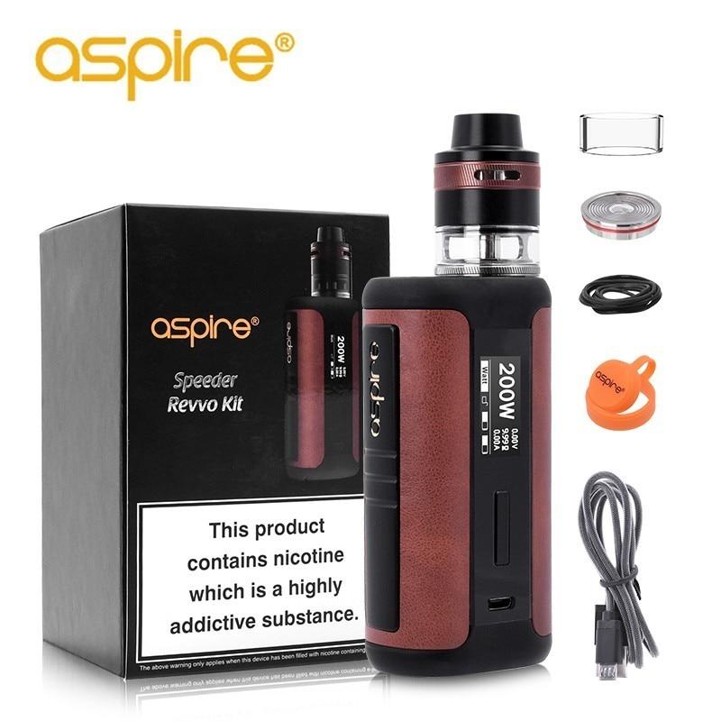 Electronic Cigarette Aspire Speeder Revvo 200W High Power Vape Kit Support TC VV VW TCR and