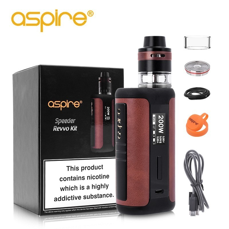 Original Aspire Speeder Revvo Kit med 200 W Leather Speeder Mod og - Elektroniske sigaretter - Bilde 1