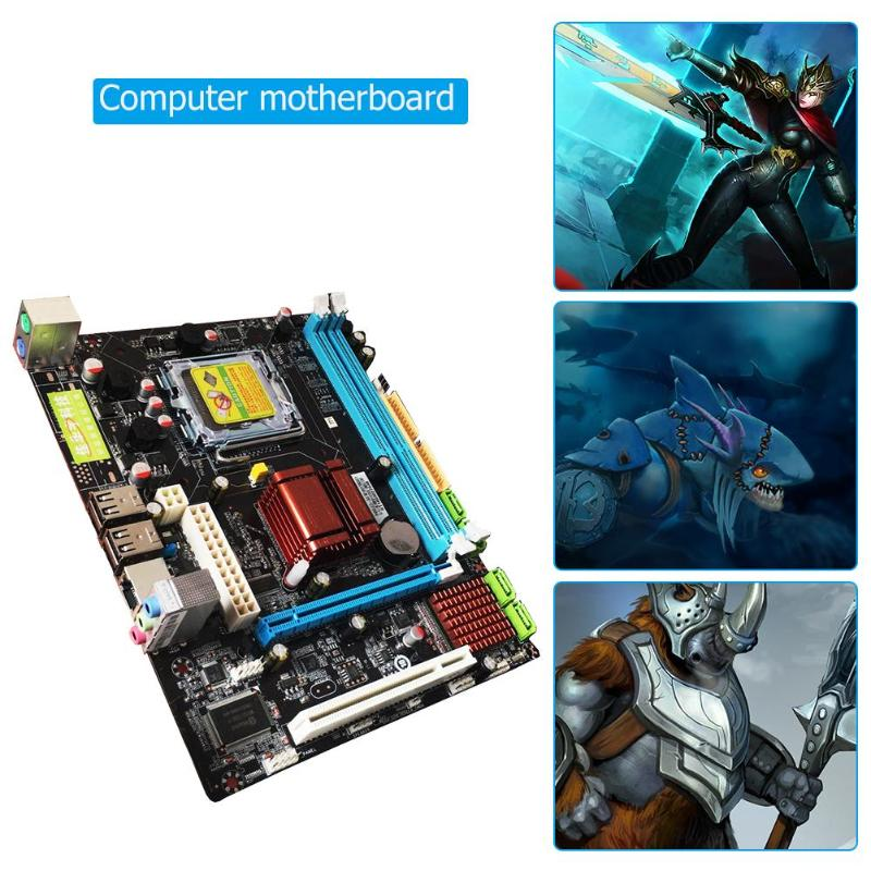PC Motherboard High Compatibility Intel P45 Computer Fast Ethernet Mainboard LGA 771 775 Dual Board DDR3