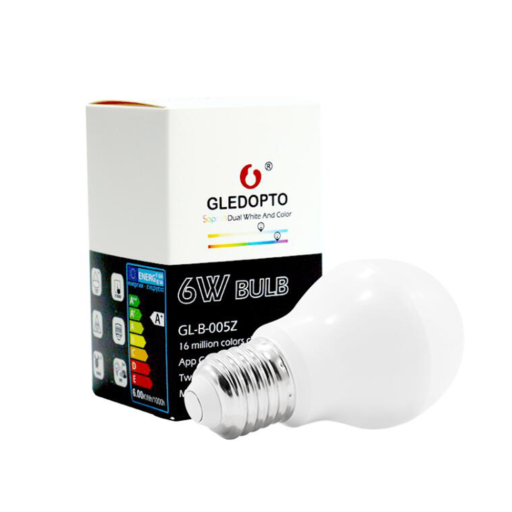 Купить с кэшбэком ZIGBEE LED Light Bulb E27 6W 12W E26  RGB Dual White Zigbee Smart Lamp App Control LED Bulb AC 110V 220V 230V Zigbee ZLL Link
