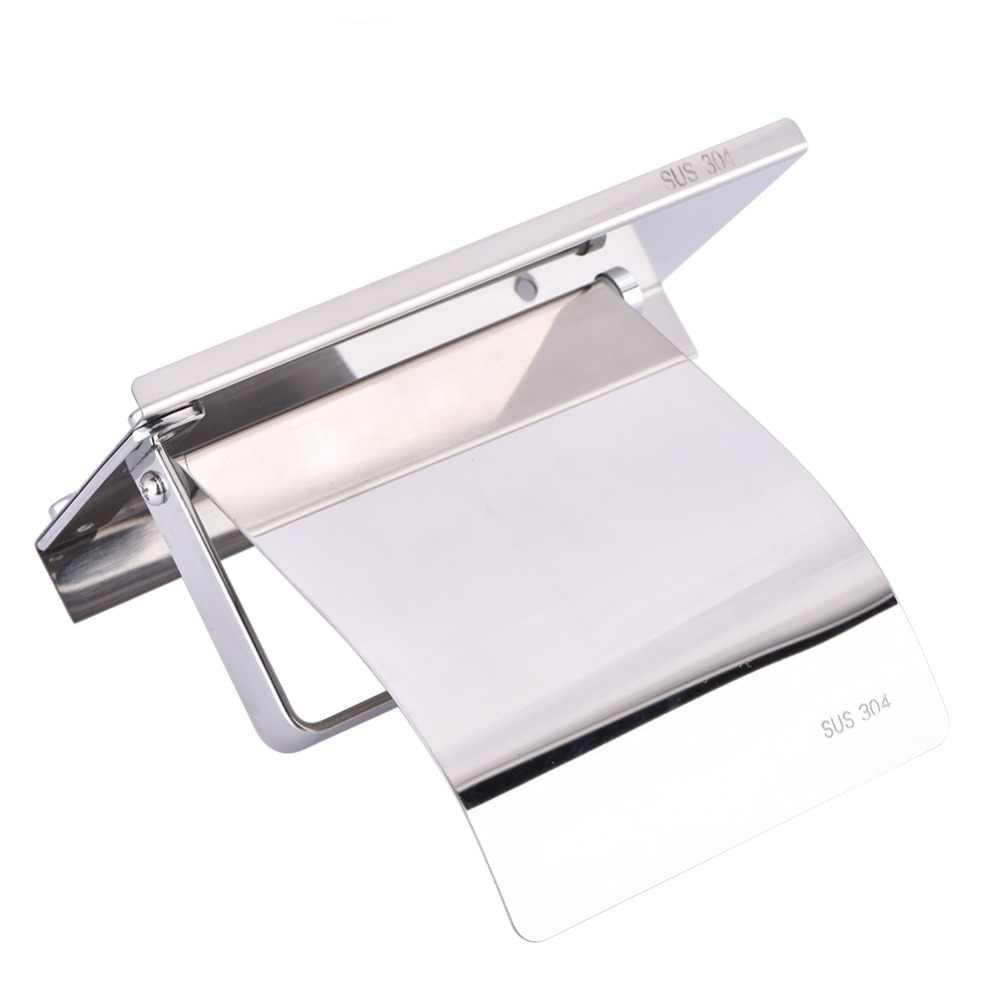 Настенная салфетница держатель из нержавеющей стали для ванной комнаты Туалетная рулонная бумага чехол для хранения ж/держатель телефона подвесная полочка TissueBox