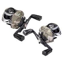 7.3: 1 Relação de Alta Velocidade Carretel De Pesca Molinete Isca De Pesca Camuflagem Freio Magnético Gotejamento de Metal Pesca Carretel de Pesca Tackle