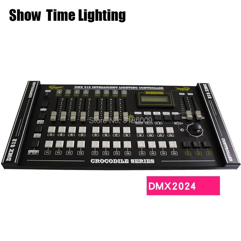 SHOW TIME Crocodile 2024 DMX Controller Stage Light DMX Console Led Par Moving Head DJ Light Stage Effect Light