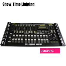 SHOW TIME Crocodile 2024 DMX Controller Stage light DMX console led par moving head DJ light stage effect light dmx console fader wing ma lighting real time control 2048 parameters 4 dmx outputs 6 page buttons for stage light