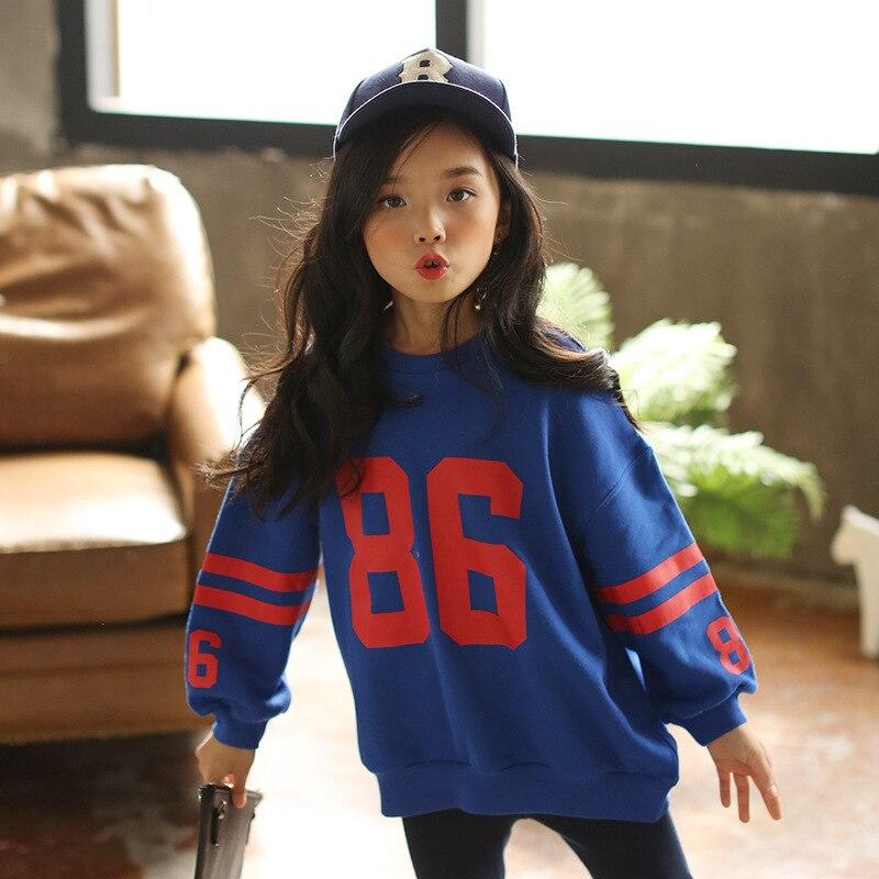 Korean-Style Girls Spring Sweatshirt Autumn Children Long Sleeve Hoodie Child Outfit Childrens Clothing Sweatshirts Character