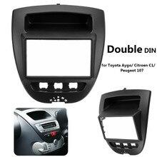 2 Din Стерео Радио Фризовая Панель знака Рамка CD Dashboard аудио внутренняя отделка для Toyota Aygo для Citroen C1 для peugeot 107