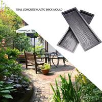 2 Molds Wood Garden Pavement Mold DIY Stepping Stone Concrete Paving Mould