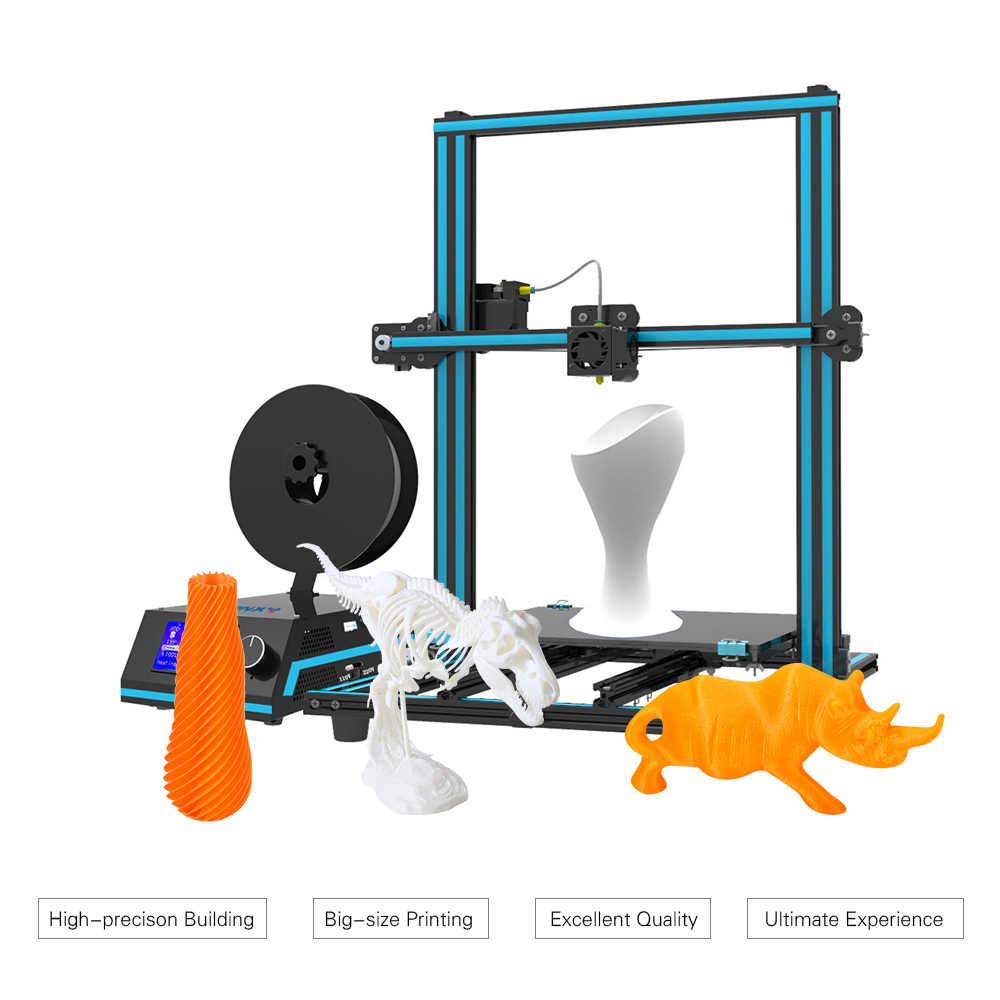 Tronxy X3S 3D Printer 3-Langkah Instalasi Dual Z Sekrup Double Penggemar 330*330*420 Mm Cetak ukuran