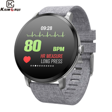 Купить с кэшбэком Smart watch V11 IP67 Waterproof Tempered Glass Activity Fitness tracker Heart Rate Monitor Men Women Smartwatch for Android IOS
