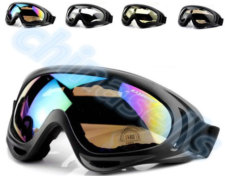 1pcs Winter Windproof Skiing Glasses Goggles Outdoor Sports Cs Glasses Ski Goggles UV400 Dustproof Moto Cycling Sunglasses(China)