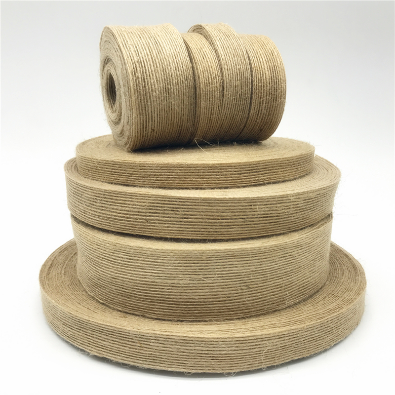 Luxury Wire Edged Ribbon STRIPED Faux Burlap style Natural /& White 38mm