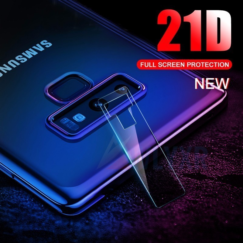 2PC 21D Back Camera Lens Transparent Full Cover Tempered Glass for Samsung Galaxy J4 6 8 A8 Plus 2018 S8 9 Protector Protective