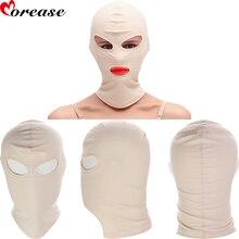Morease Leather Cotton Masks Hoods BDSM Role Play Head Bondage Erotic Adult Game font b Sex