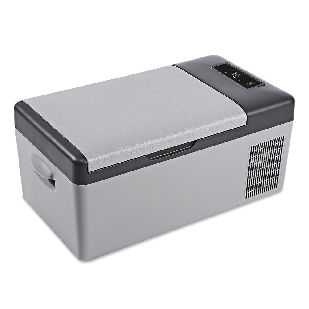 Réfrigérateur de voiture d'été 15L compresseur Portable refroidisseur maison réfrigérateur AC/DC LED affichage congélateur pour pique-nique Camping fête refroidissement