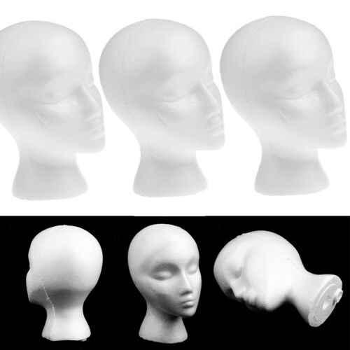1 Pcs Wanita Busa Kepala Manekin Model Topi Wig Rak Display Putih Miniatur Patung-patung