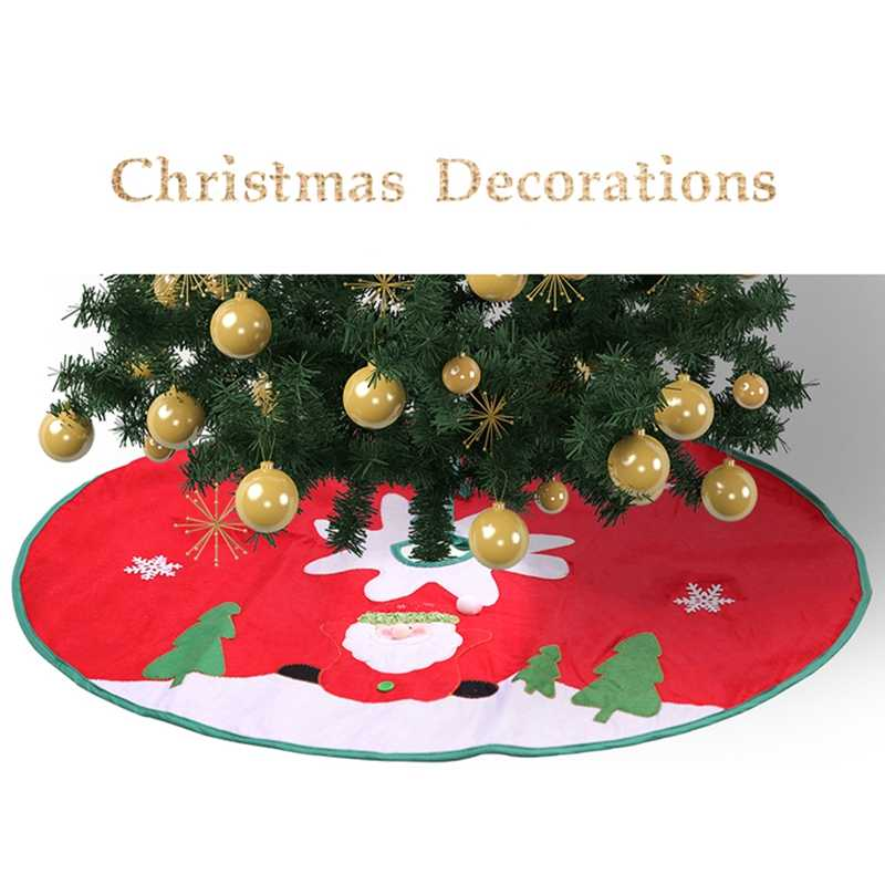 Рождественская елка юбка фартук ткани Санта-Клаус Печать украшение Рождественский Декор
