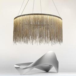 Алюминиевый кисточка круговой светодиодный подвесной светильник Гостиная Столовая домашняя Современная Роскошь простой европейский