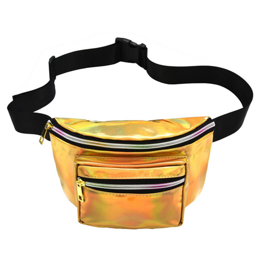 2019 New Women Waist Bags Fashion Zipper Sequin Glitter Waist Fanny Pack Belt Bum Bag Pouch Solid Hip Purse  Handbag