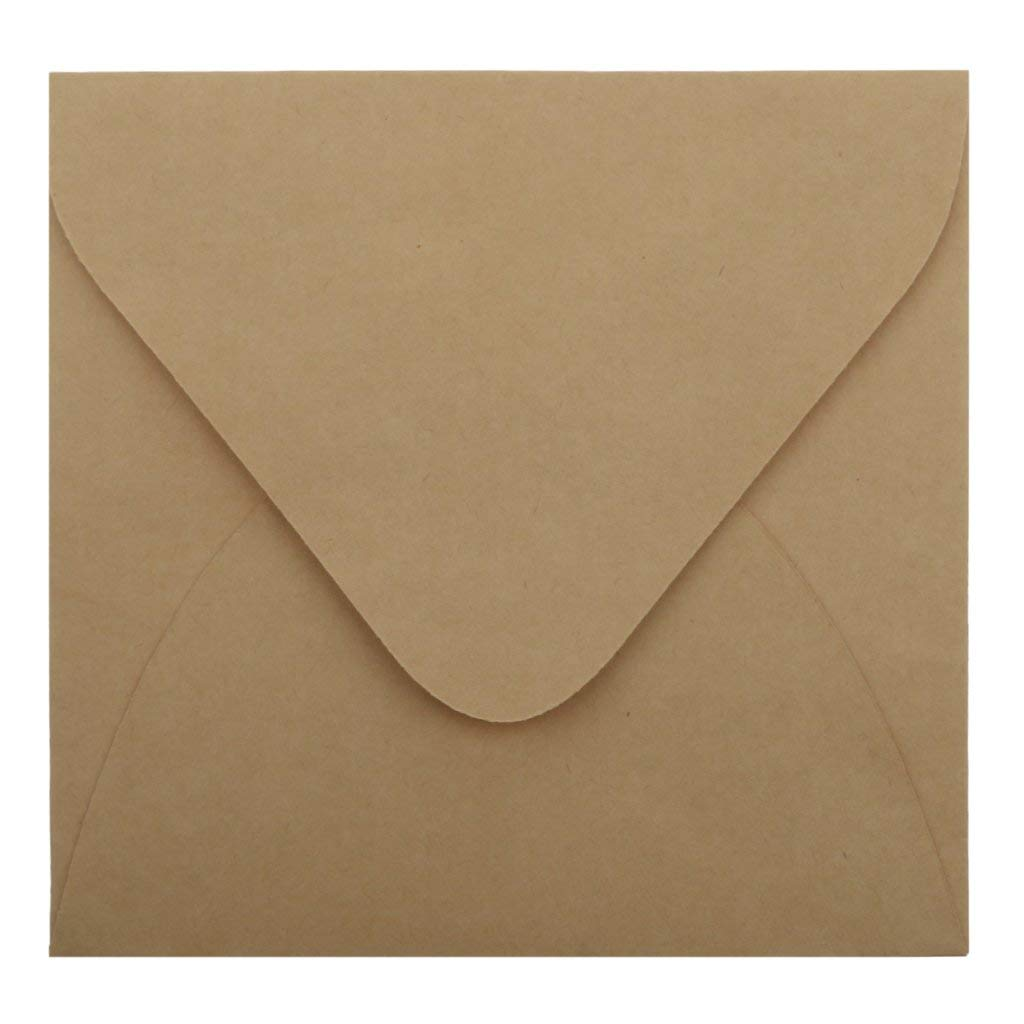 50pcs Kraft Paper Envelopes For Wedding Announcement 16x11cm