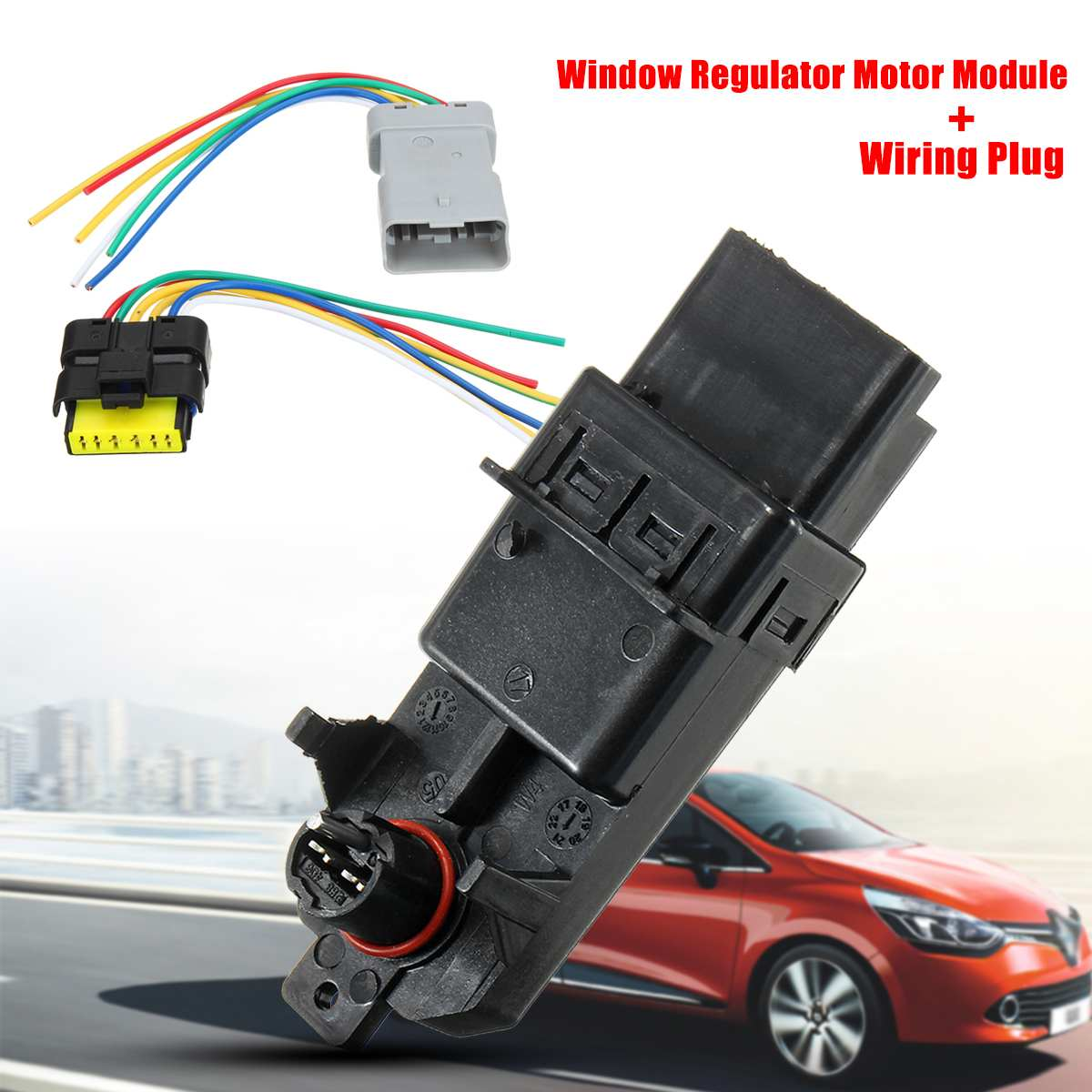 Car Electric Window Lifter Regulator Module Regulator Wiring Plug Harness For Renault Clio/Espace/Grand Scenic/Megane/Scenic