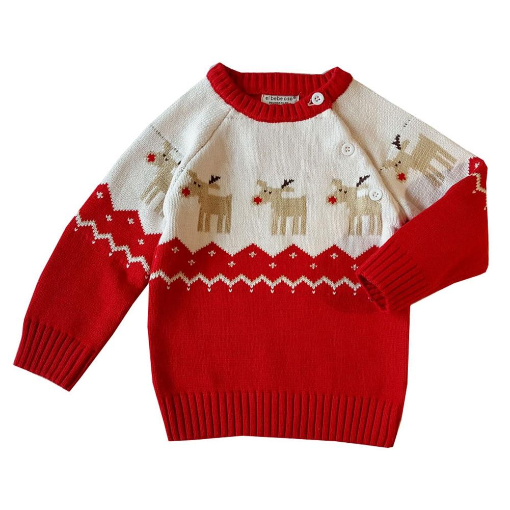Mutter & Kinder Erfinderisch Baby Kleinkind Jungen Und Mädchen Weihnachten Kleidung Deer Pullover Stricken Kleidung Baumwolle Bluse T-stücke