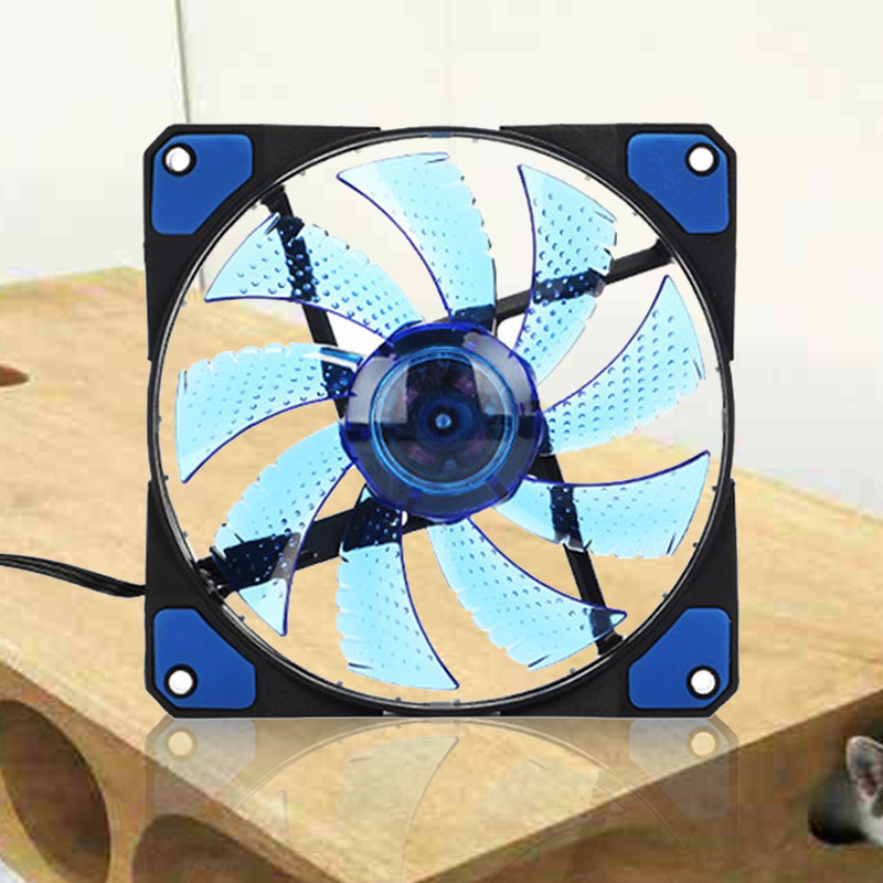 120mm PC Computer 16dB Ultra Silent 33 LEDs Case Fan Heatsink Cooler Cooling with Anti-Vibration Rubber,12CM Fan,12VDC 3P IDE