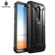 غطاء حماية لجراب LG G7 ThinQ 6.1 بوصة مزود بمشبك واقي متين لكامل الجسم مع واقي شاشة مدمج