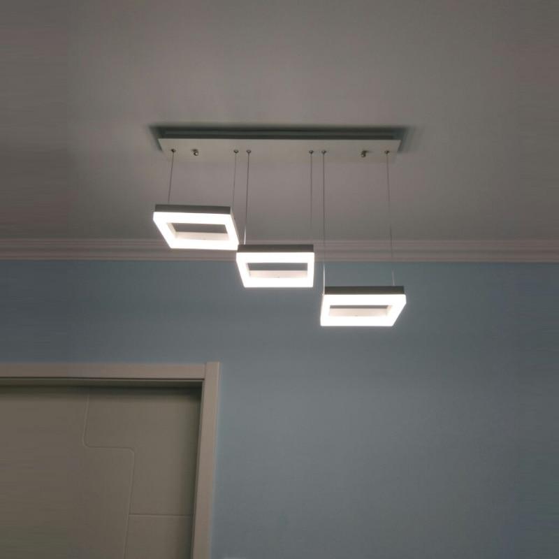 ̿̿̿(•̪ )Salle d\'étude sqare Led suspension Luminaire ...