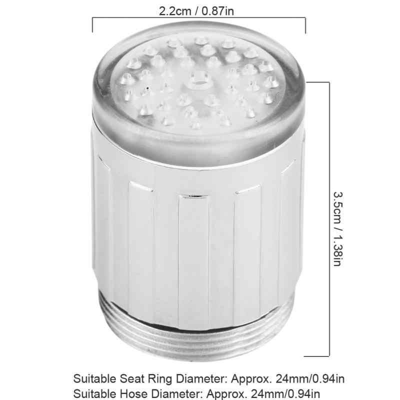 3 色の変更 Led ライト蛇口の水タップ Led ライト水の蛇口の温度感知シンク蛇口キッチン浴室用品ホット