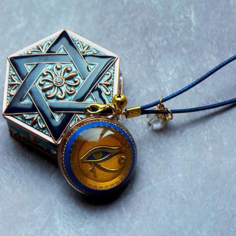 AURA REIKI Orgonite Devil 39 s Eye Pendant Natural Custom Pendant Anti radiation Charm Pendant Necklace Jewelry For Women in Pendants from Jewelry amp Accessories
