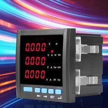 Current Meter Digital LED Three-phase Ammeter Voltmeter Multifunctional Programmable Meter Black(China)