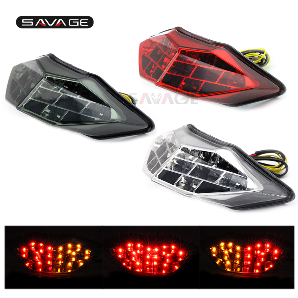 <font><b>LED</b></font> Tail Brake Light Turn Signal For KAWASAKI Z250 Z300 <font><b>NINJA</b></font> 250/<font><b>300</b></font> 2013-2017 14 15 16 Motorcycle Integrated Blinker Lamp image