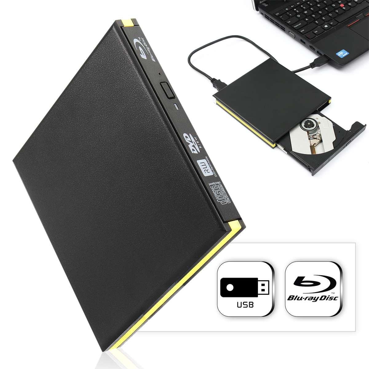 USB 3.0 Blu-ray Graveur Lecteur BD-RE Externe DVD Enregistreur Écrivain DVD +/-RW DVD-RAM 3D Lecteur pour Ordinateur Portable