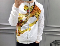 2019 New Fashion 19ss Designer Leopard Letter Luxury Print Jacket With Hood For Men Outwear Clothing Famous Long Sleeve Brand
