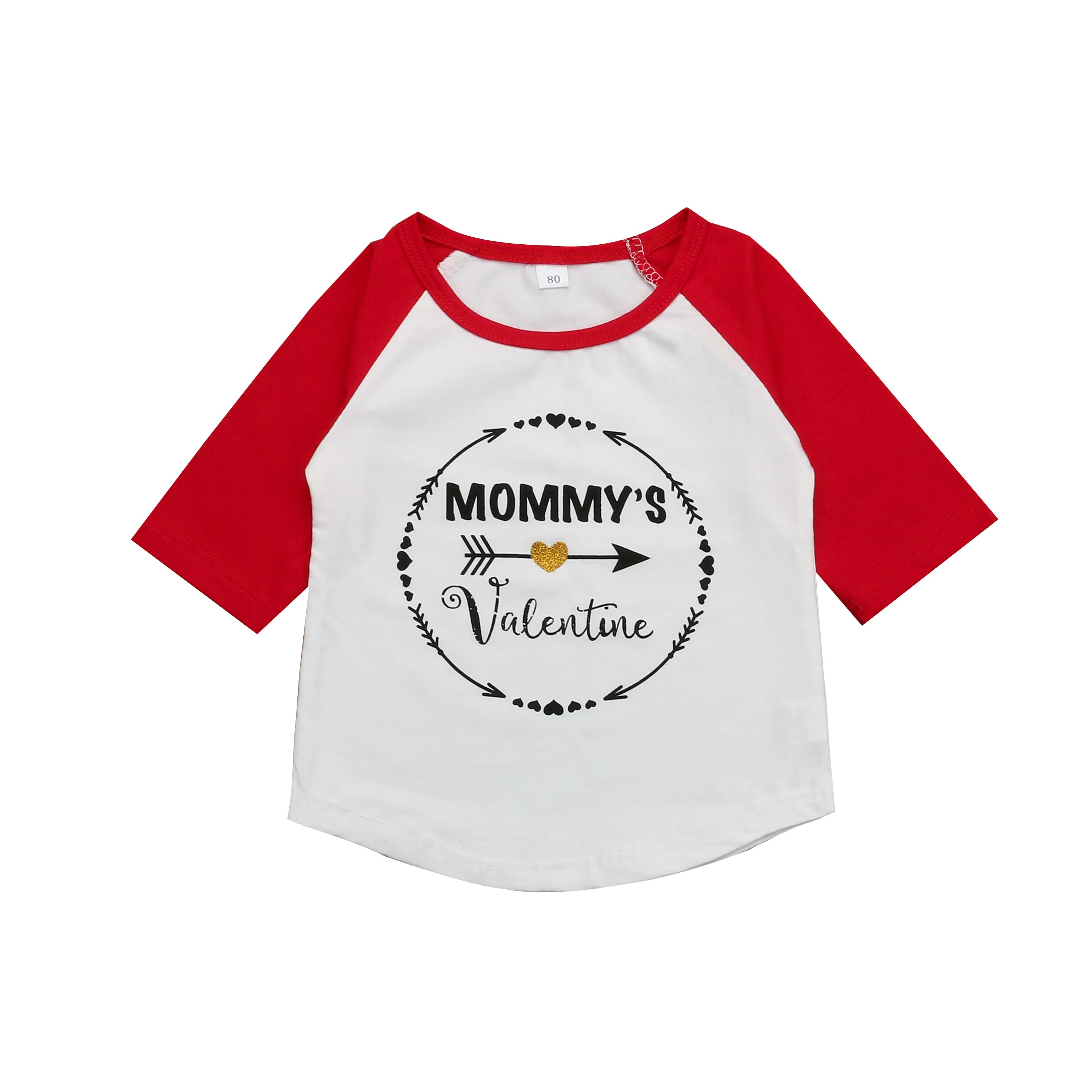 a58f49d0b 2019 Spring Valentine's Day Toddler Baby Girls Tops T-shirt Long Sleeve  Blouse Kids Casual Clothes Autumn Casual Outfit