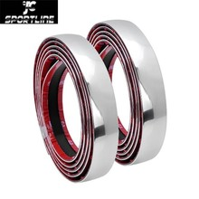 Car Styling Auto Self Adhesive Side Door Chrome Strip Moulding Decoration Bumper Protector Trim Tape