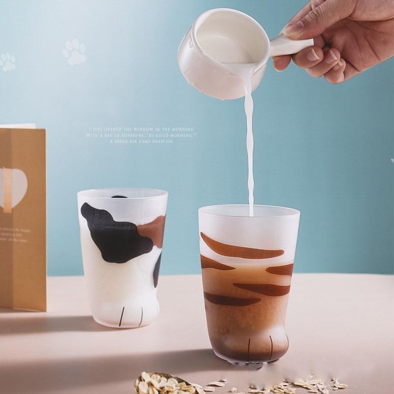 Kawaii Cat Paw Glass Cups - KawaiiTherapy